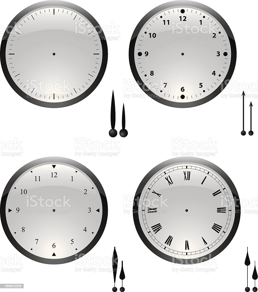 clocks glass vector art illustration