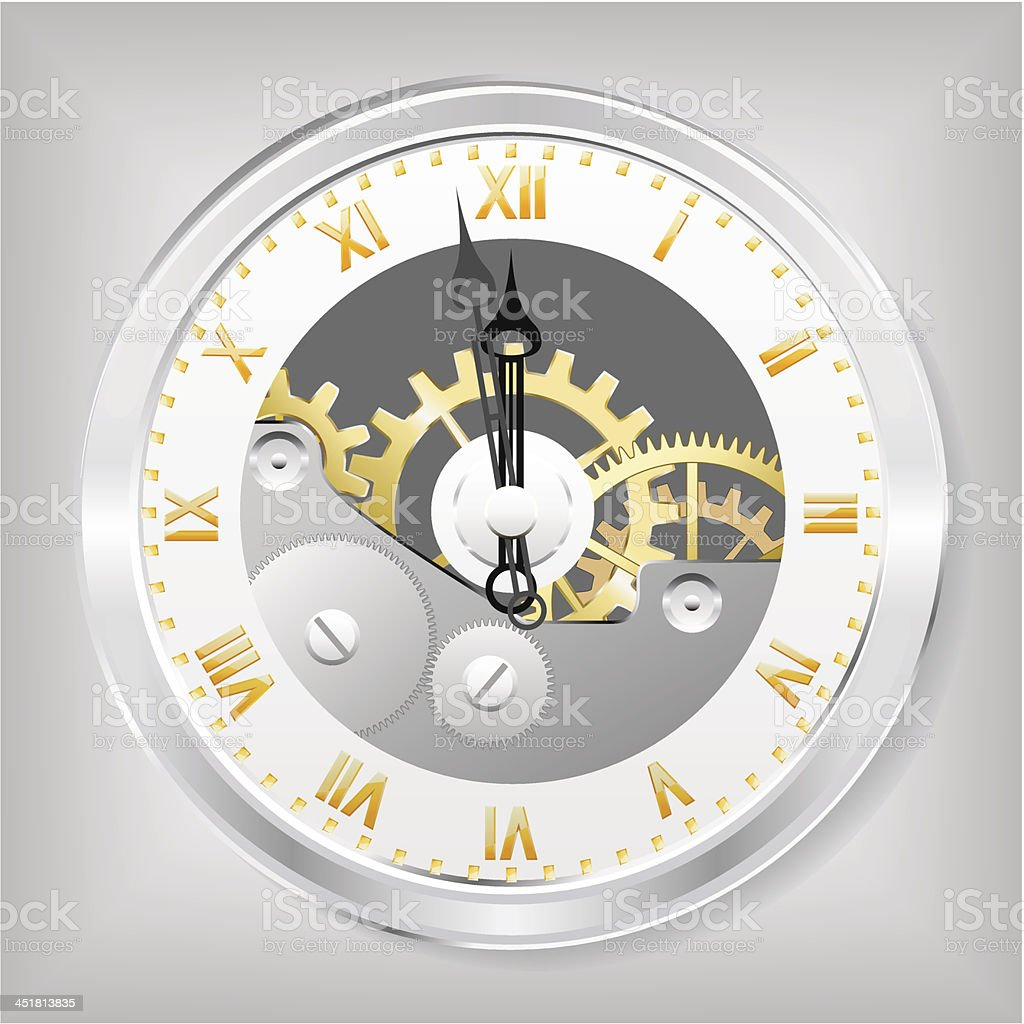 Clock-skeleton. royalty-free stock vector art