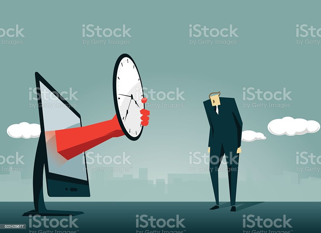 Clock,Time, Speed, Deadline, Physical Pressure vector art illustration