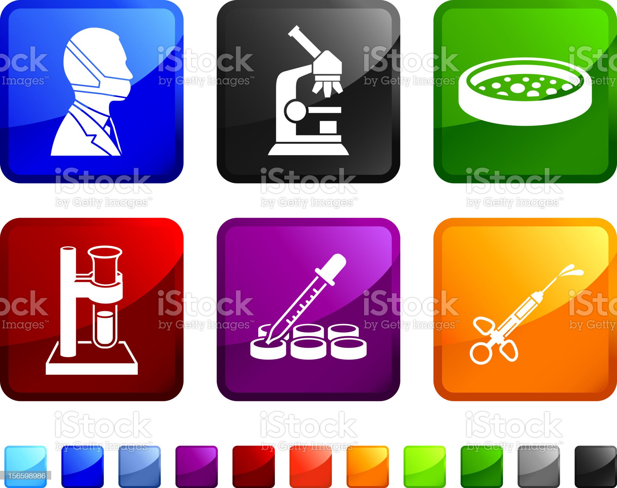 Cloning Organism vector icon set royalty-free stock vector art