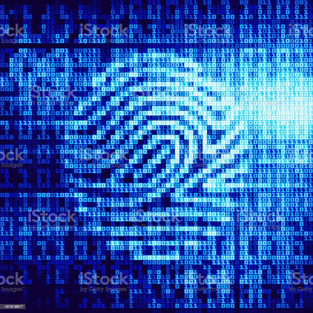 Close up of digital fingerprint royalty-free stock vector art