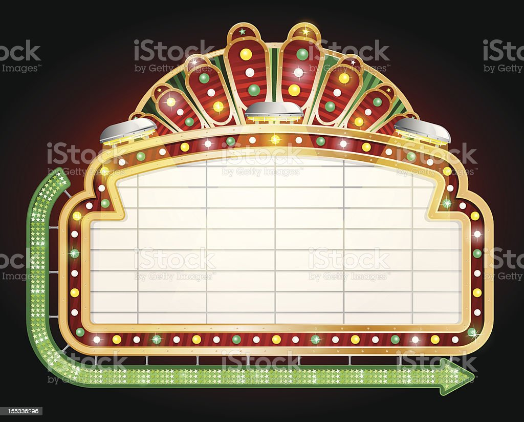 Close up of empty gambling sign vector art illustration