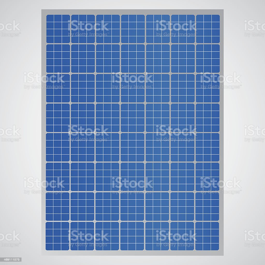 Close up of solar cell panel to provide clean energy vector art illustration