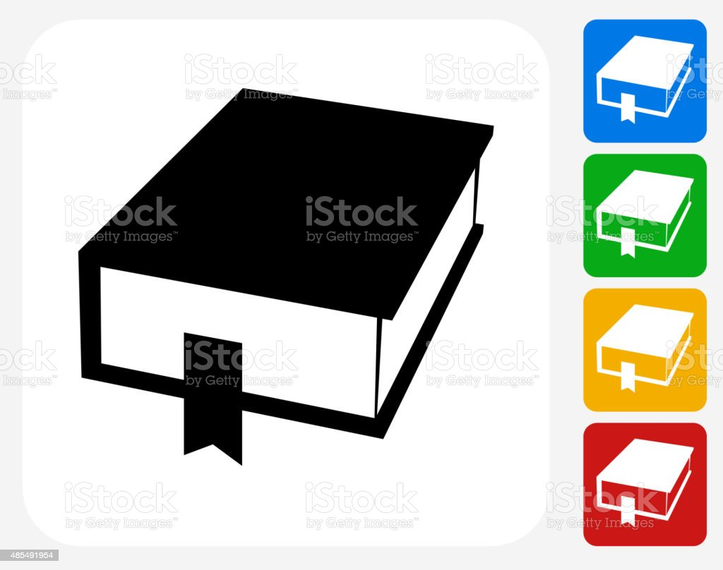 Closed Book Icon Flat Graphic Design vector art illustration