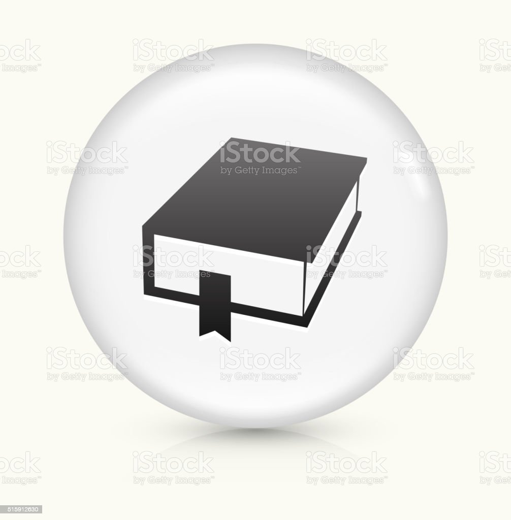 Closed Book icon on white round vector button vector art illustration