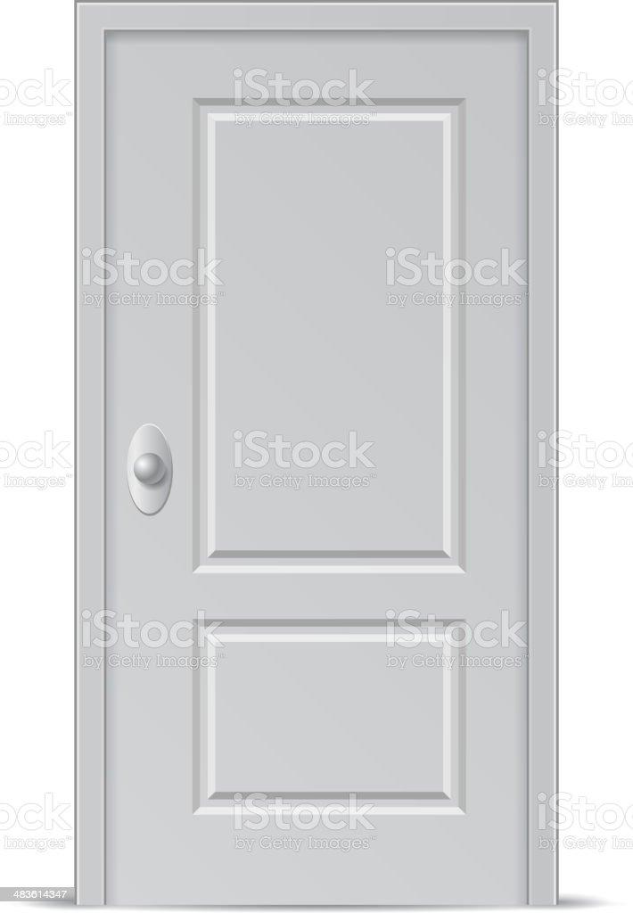 Closed Door royalty-free stock vector art