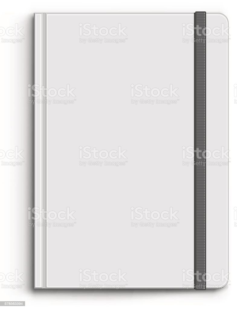 Closed Notebook vector art illustration