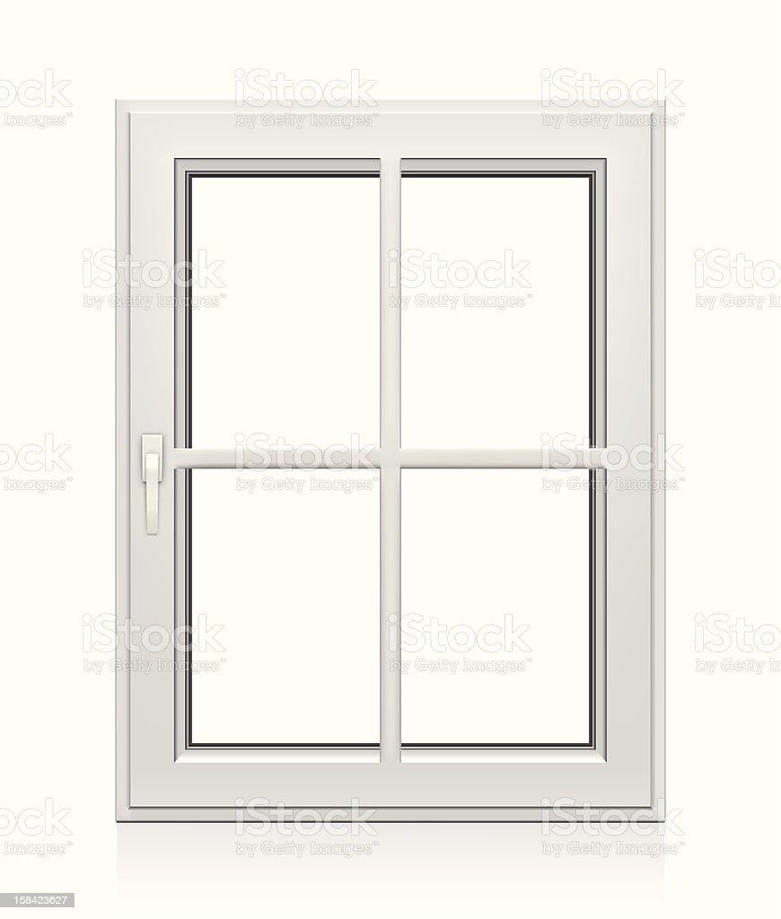 Closed Plastic Window vector art illustration