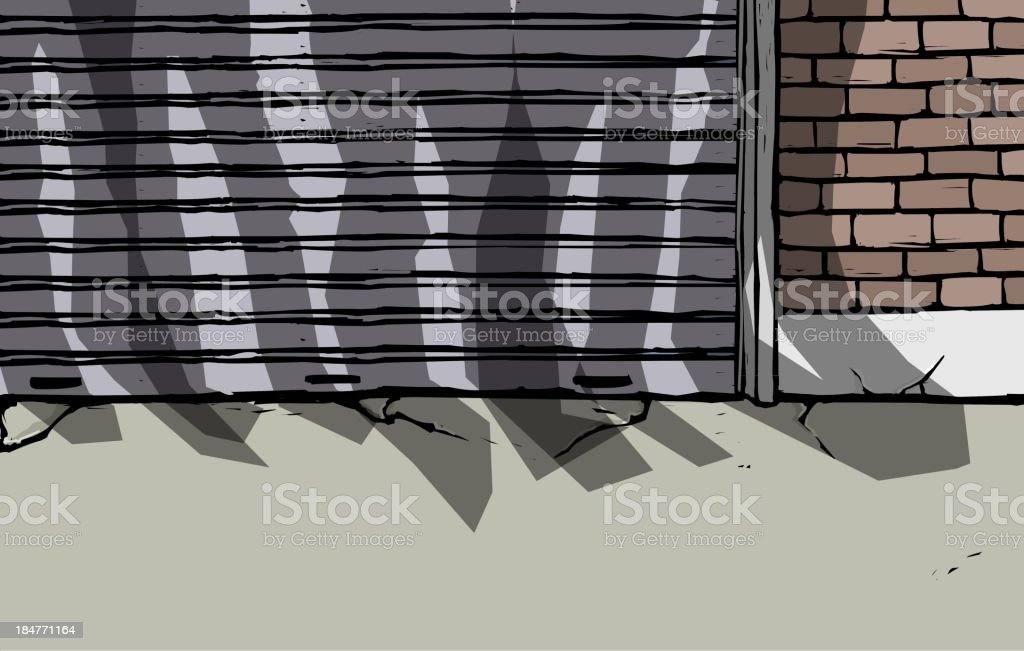 Closed Shop Front royalty-free stock vector art