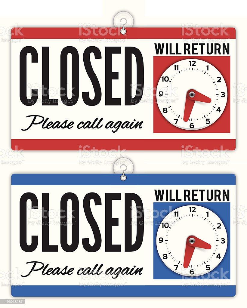 Closed Sign vector art illustration