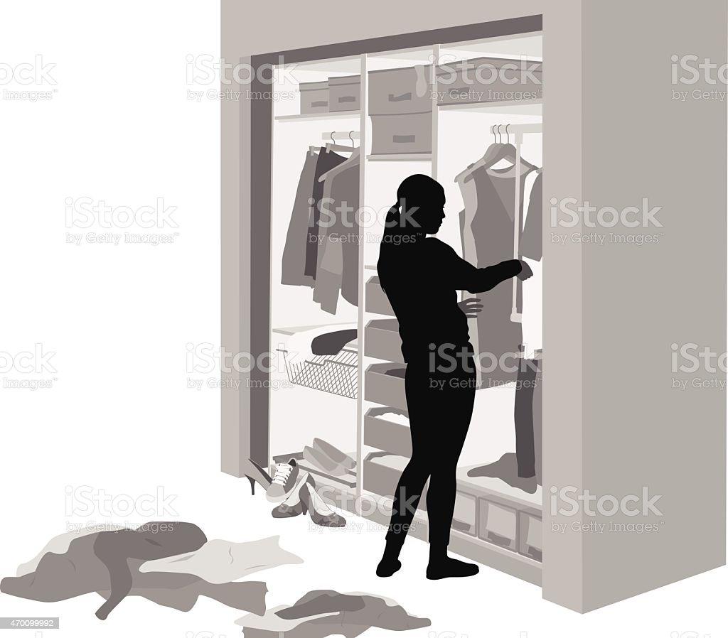 ClosetCleaning vector art illustration