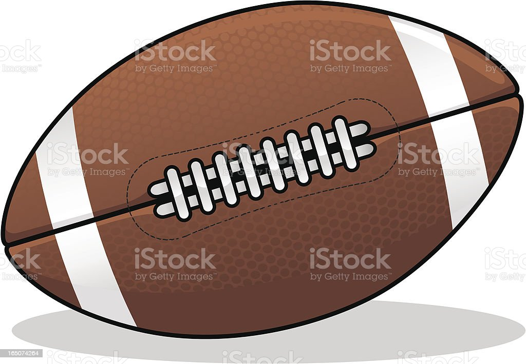 Close-up of a illustration of a football royalty-free stock vector art