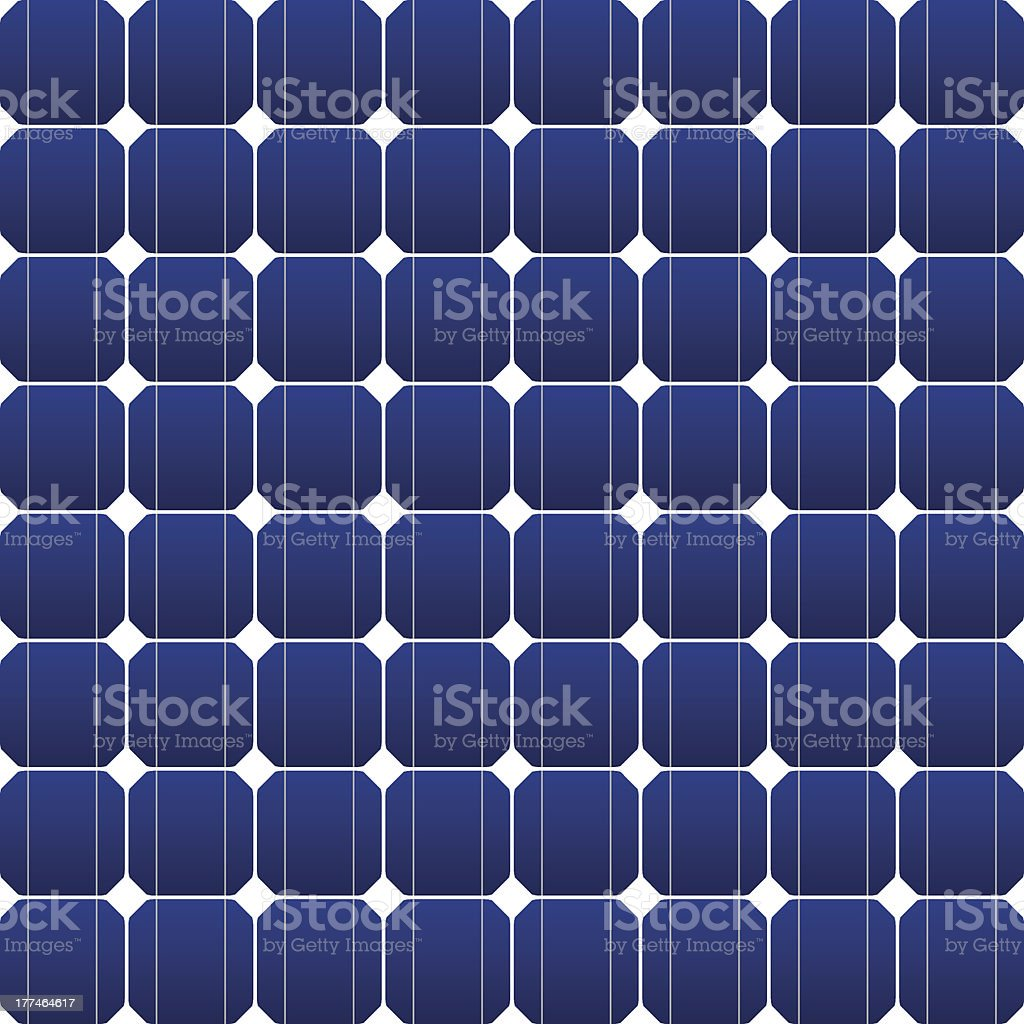 Close-up of blue and white photovoltaic panel vector art illustration
