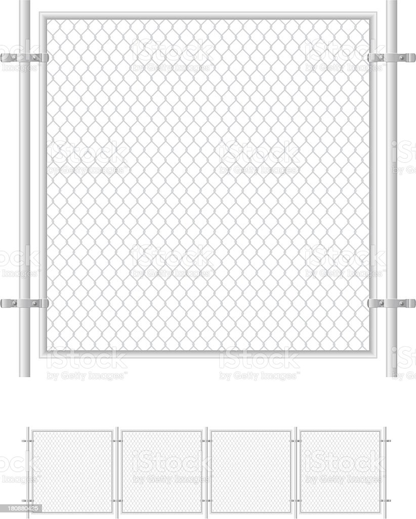 Close-up of fence with twisted wire vector art illustration
