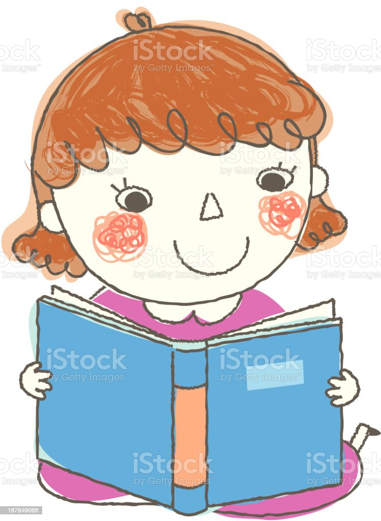 close-up of girl smiling royalty-free stock vector art