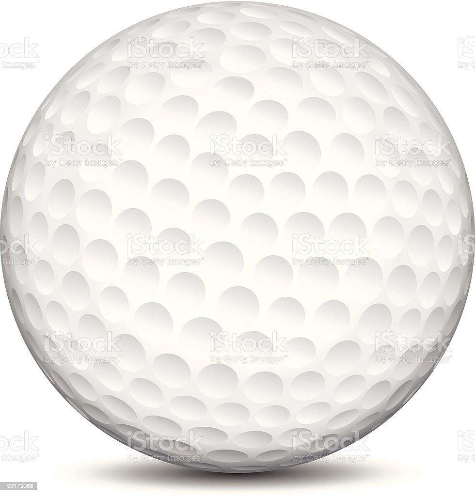Close-up of golf ball vector on white background royalty-free stock vector art