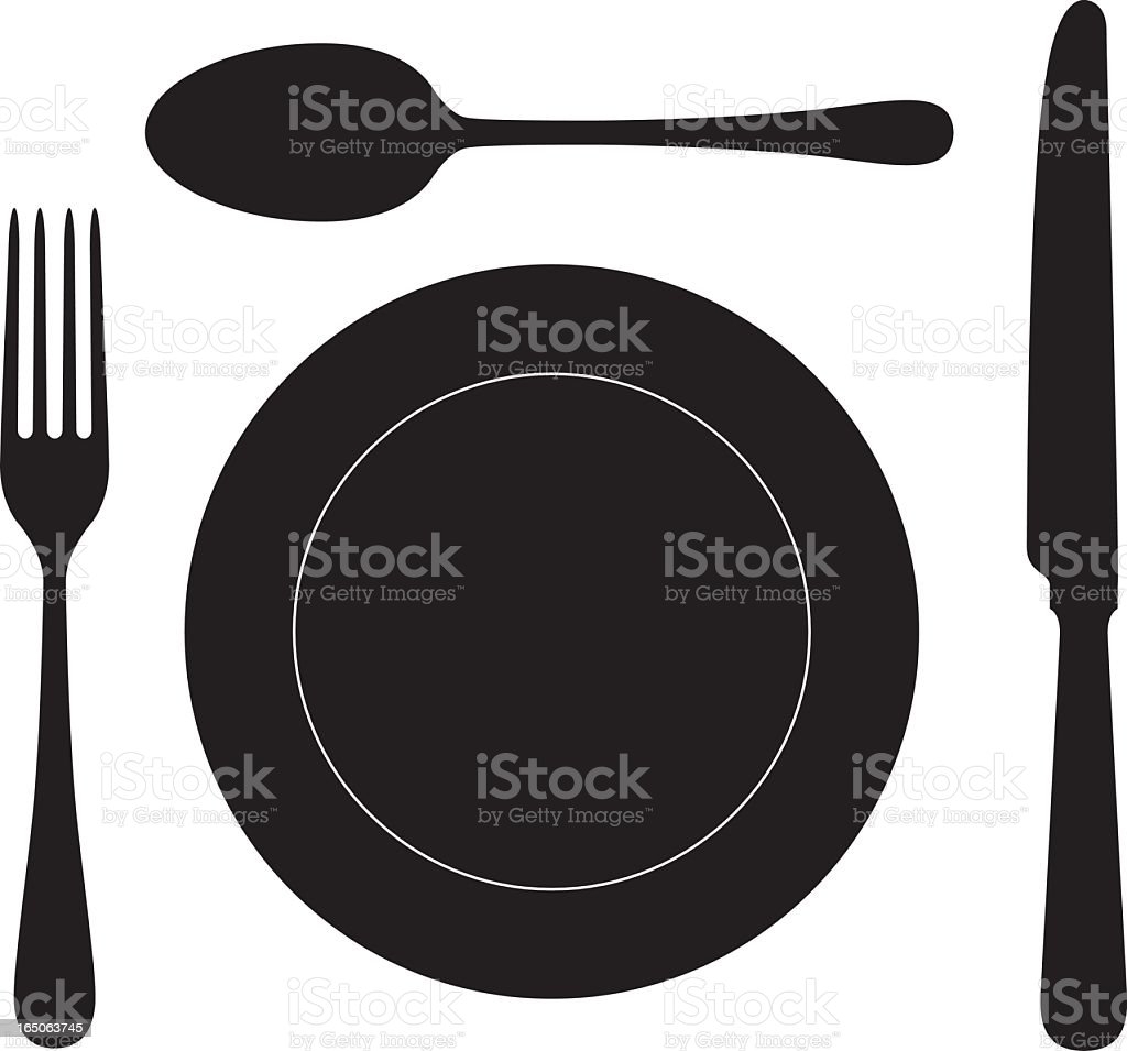 Close-up of some cutlery in vector format royalty-free stock vector art