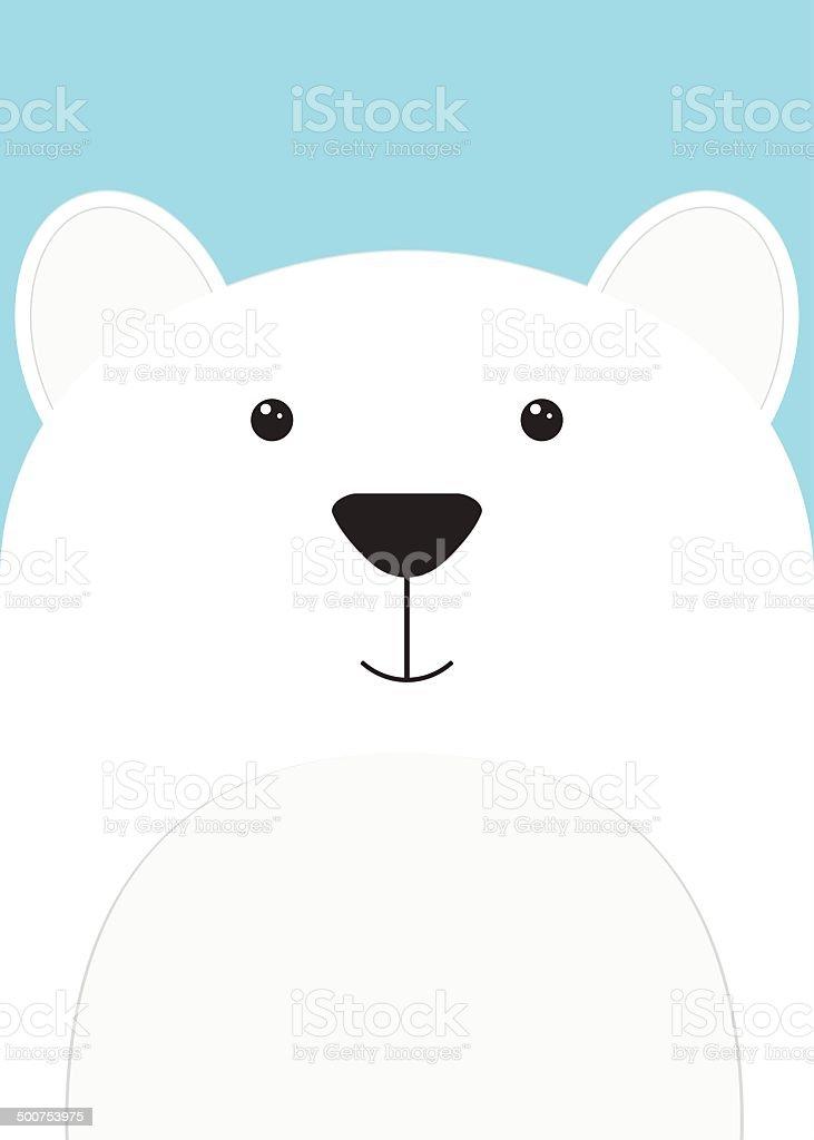 Gros plan d'une muselière Bear stock vecteur libres de droits libre de droits