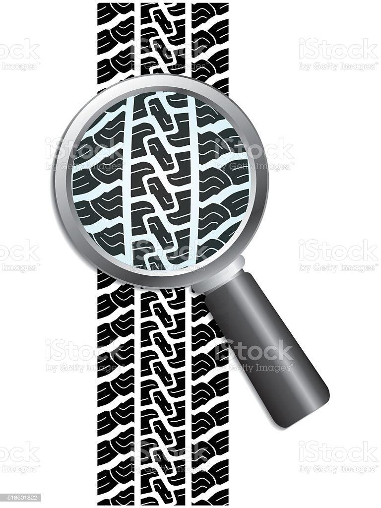 Close-up of tire vector art illustration