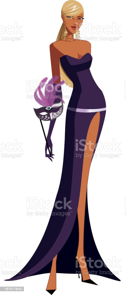 close-up of woman standing royalty-free stock vector art