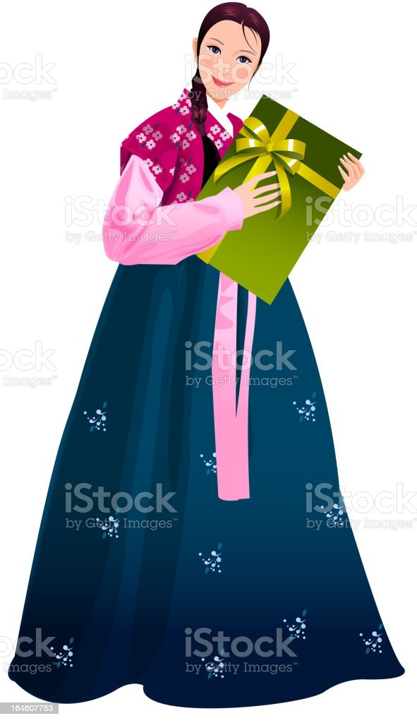 Close-up of woman royalty-free stock vector art