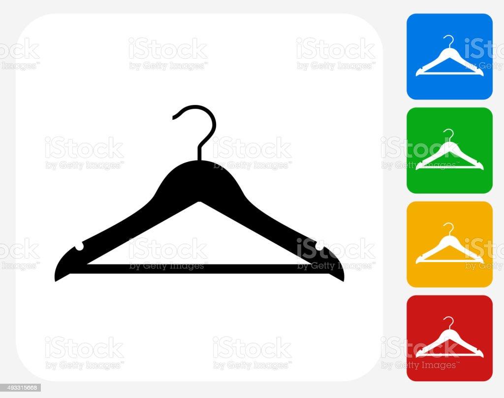 Cloth Hanger Icon Flat Graphic Design vector art illustration