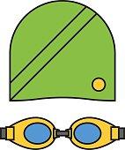 Cloth swimmer sportswear vector.
