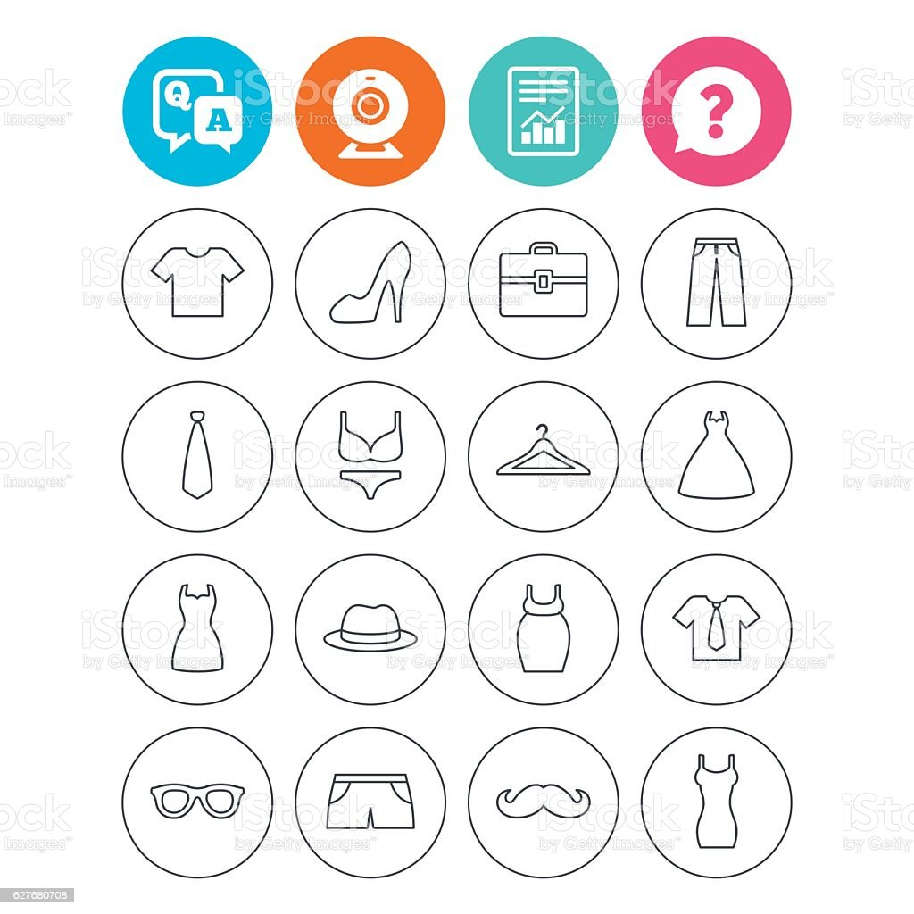 Clothes and accessories. Underwear, maternity. vector art illustration