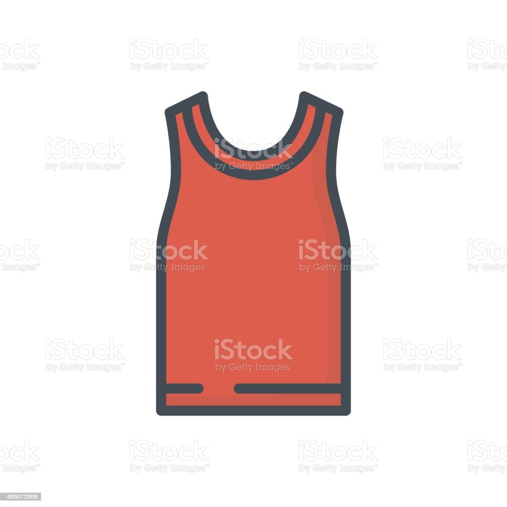 Clothes Colored Icon tank shirt vector art illustration