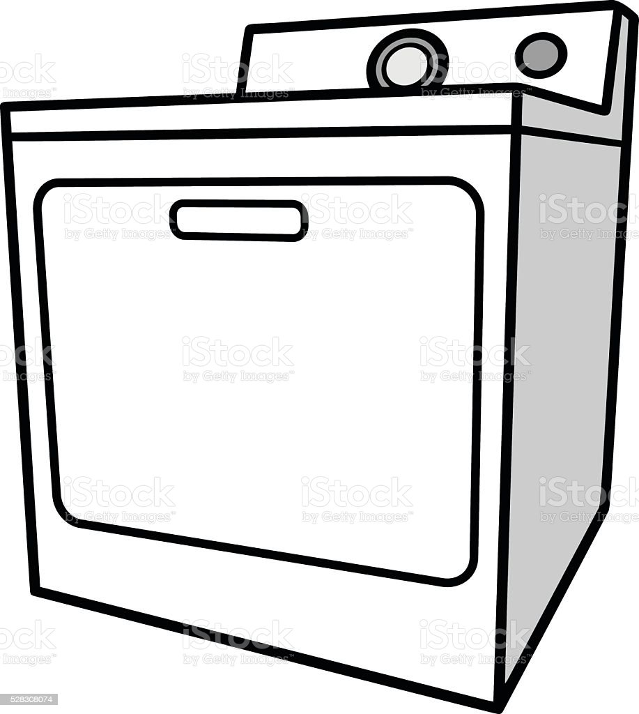 Clothes Dryer stock vector art 528308074   iStock
