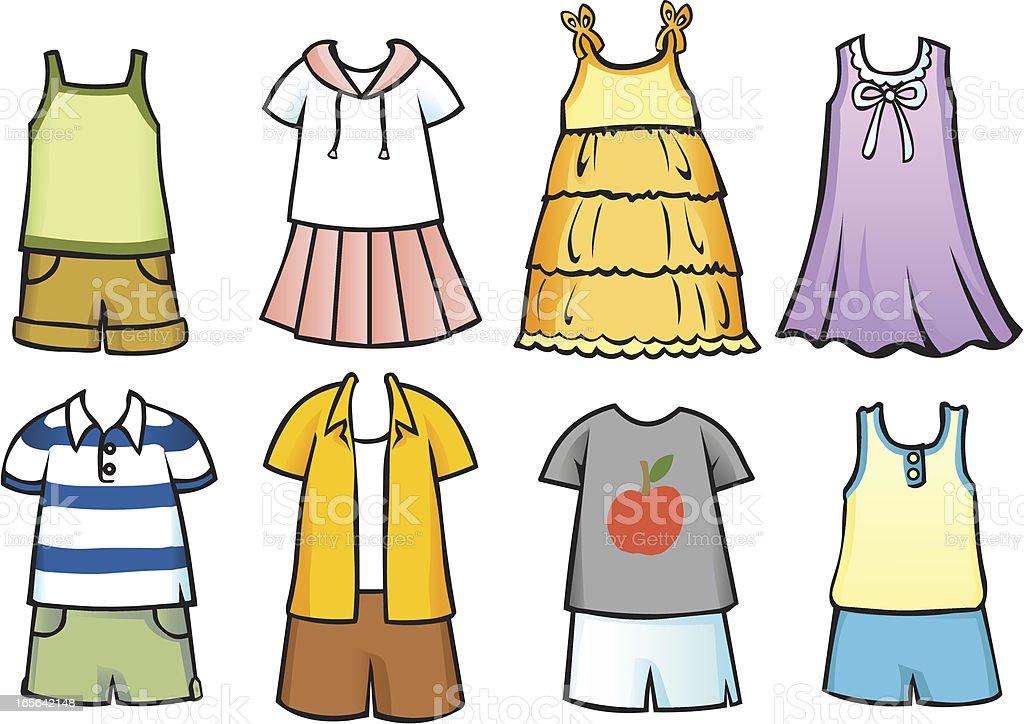 Clothes for children 2 vector art illustration