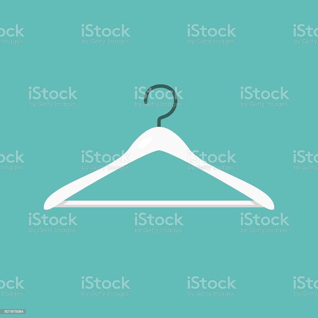 Clothes hanger icon concept vector vector art illustration