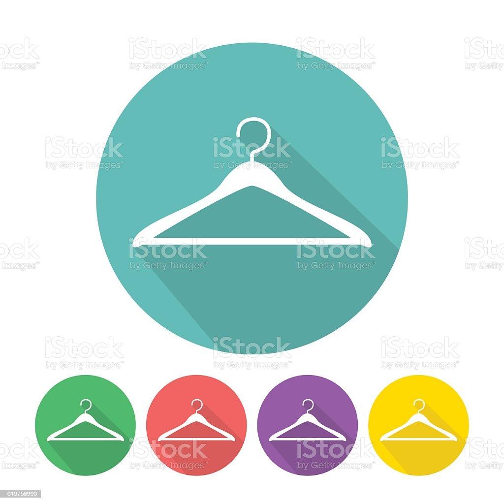 Clothes hanger icon vector vector art illustration