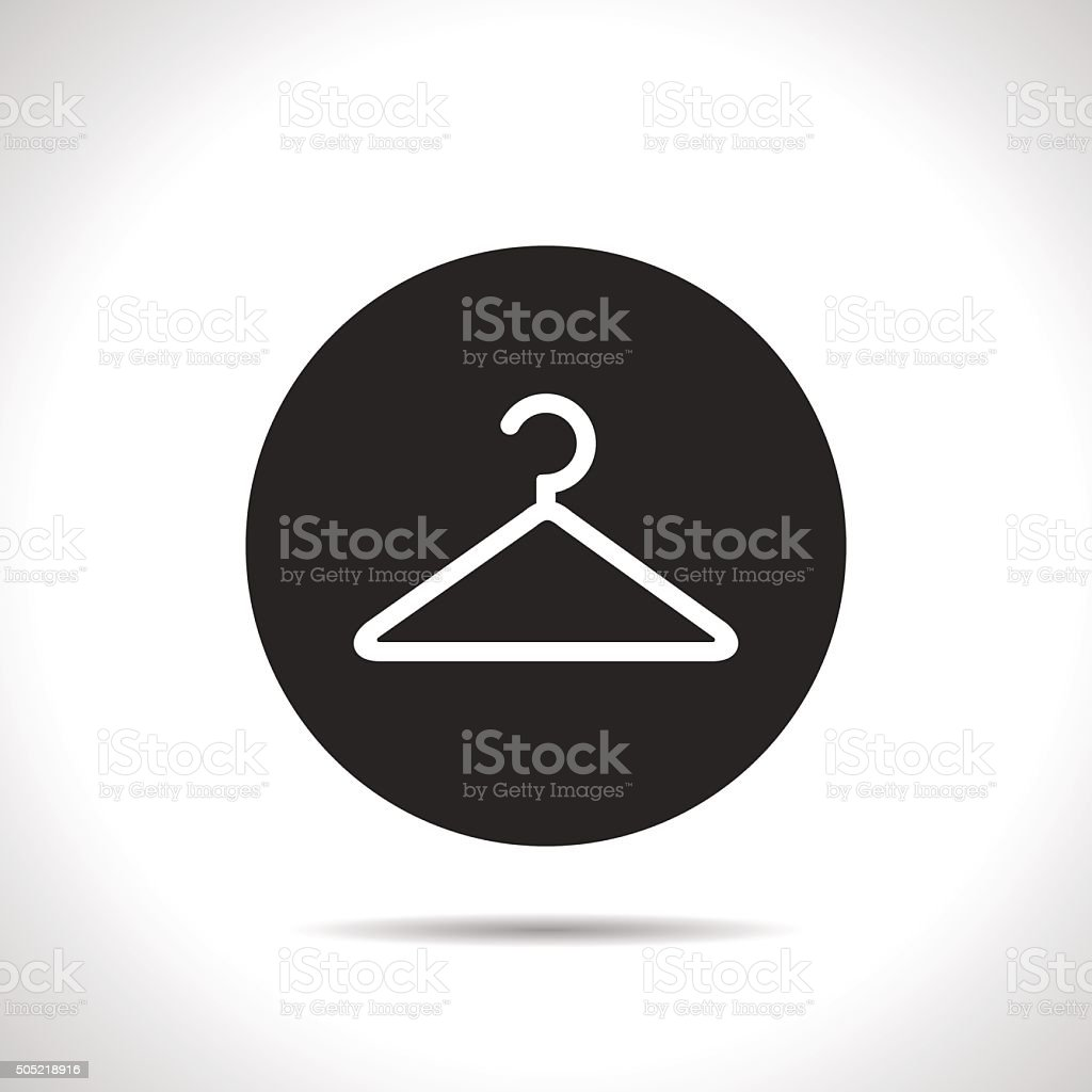 clothes hanger vector icon vector art illustration