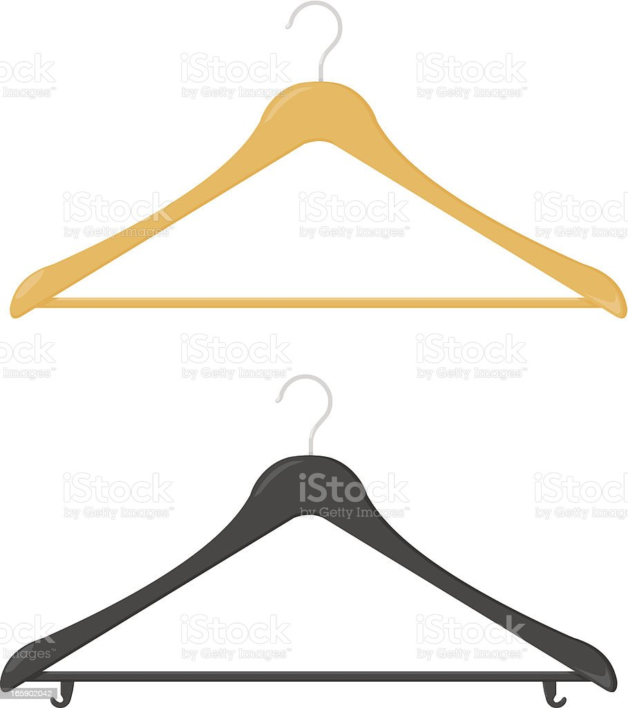 Clothes Hanger royalty-free stock vector art