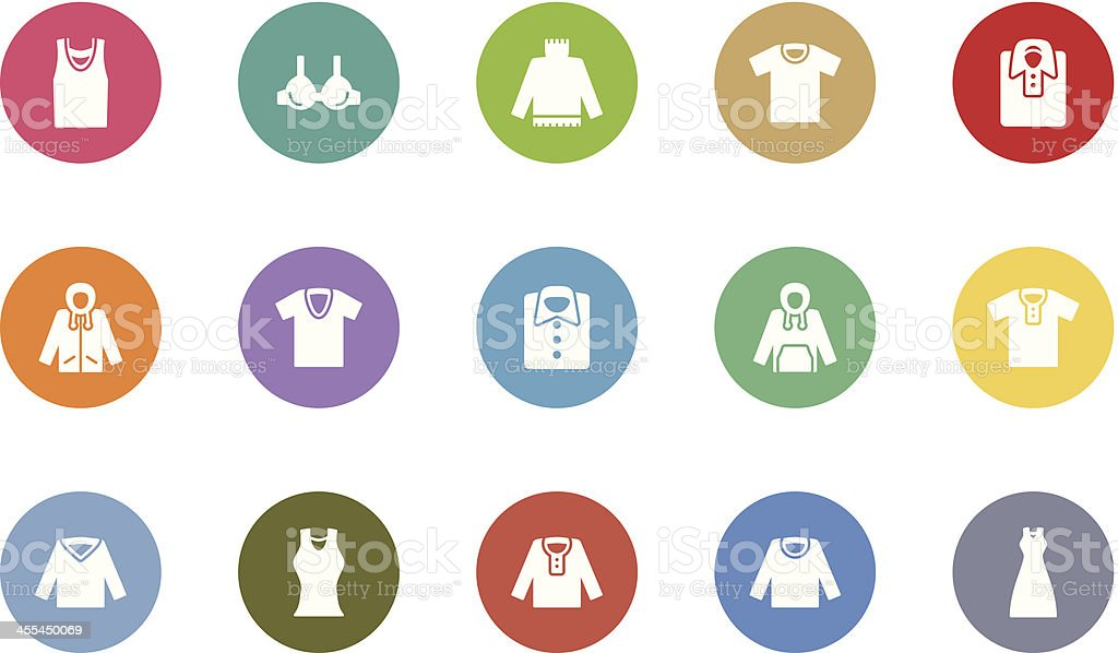 clothes icons royalty-free stock vector art