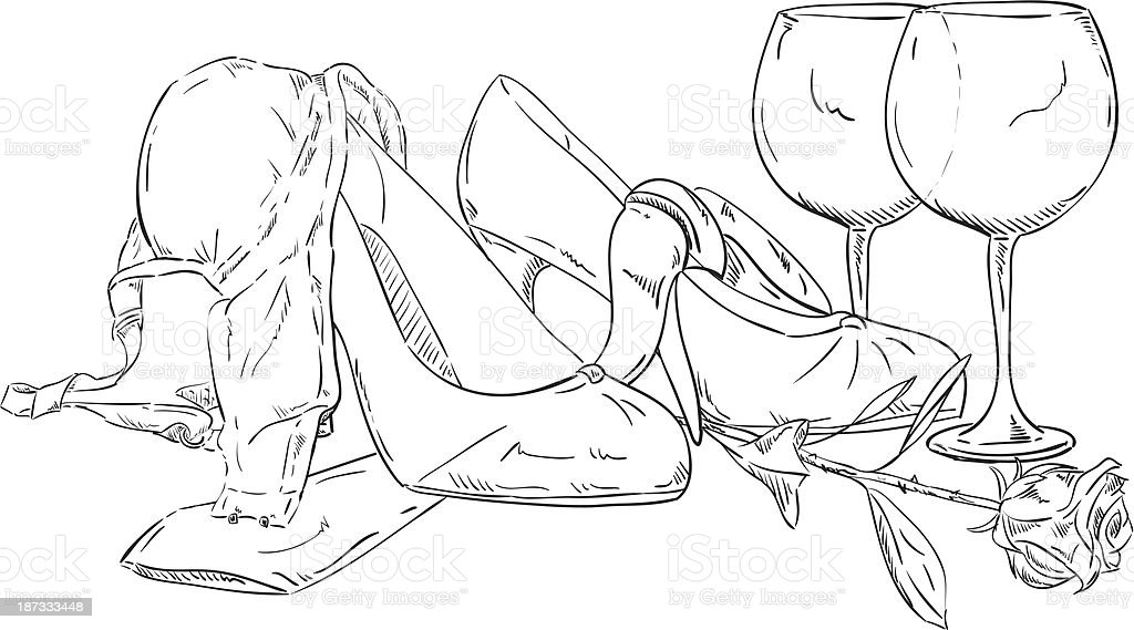 clothes lying on the floor royalty-free stock vector art