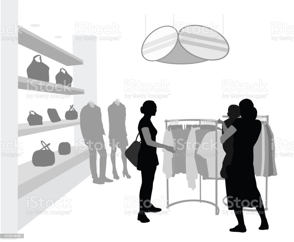 Clothes Rack royalty-free stock vector art
