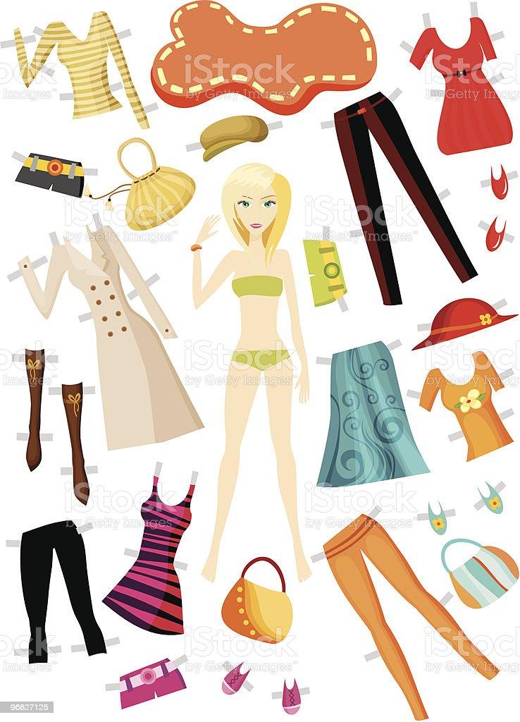 clothes set vector art illustration