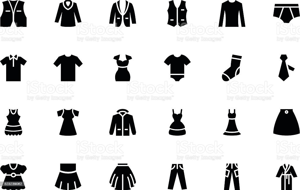 Clothes Vector Icons 2 vector art illustration