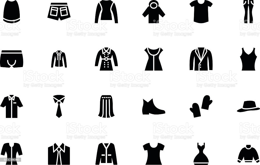 Clothes Vector Icons 4 vector art illustration