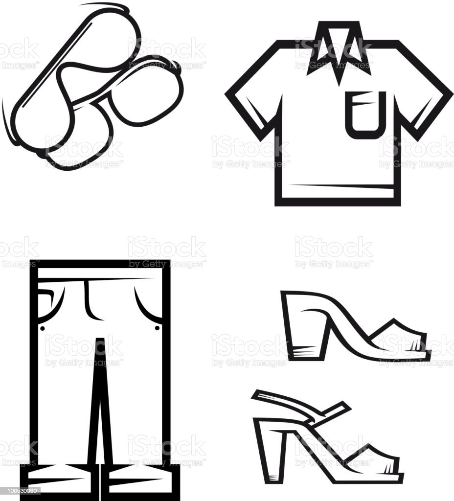 Clothing elements royalty-free stock vector art