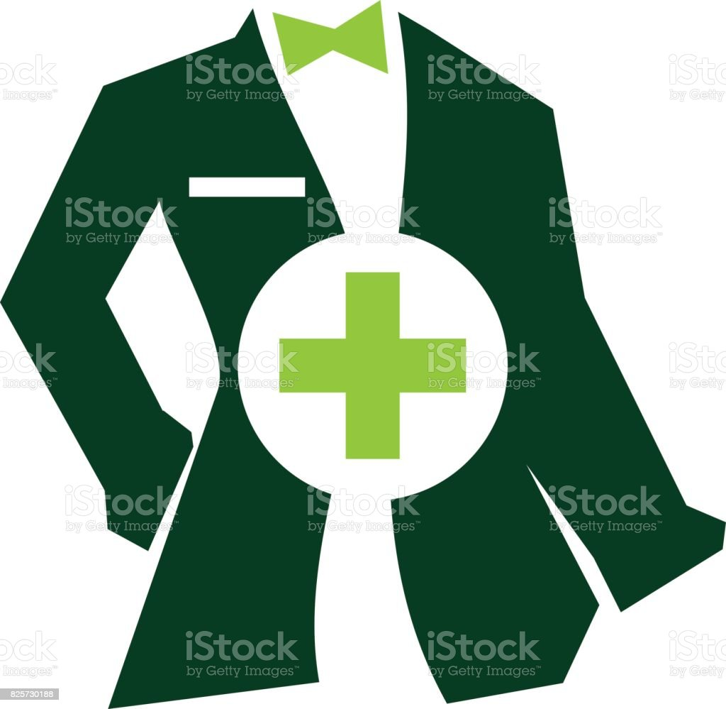 Clothing for Doctor Tailor Service vector art illustration