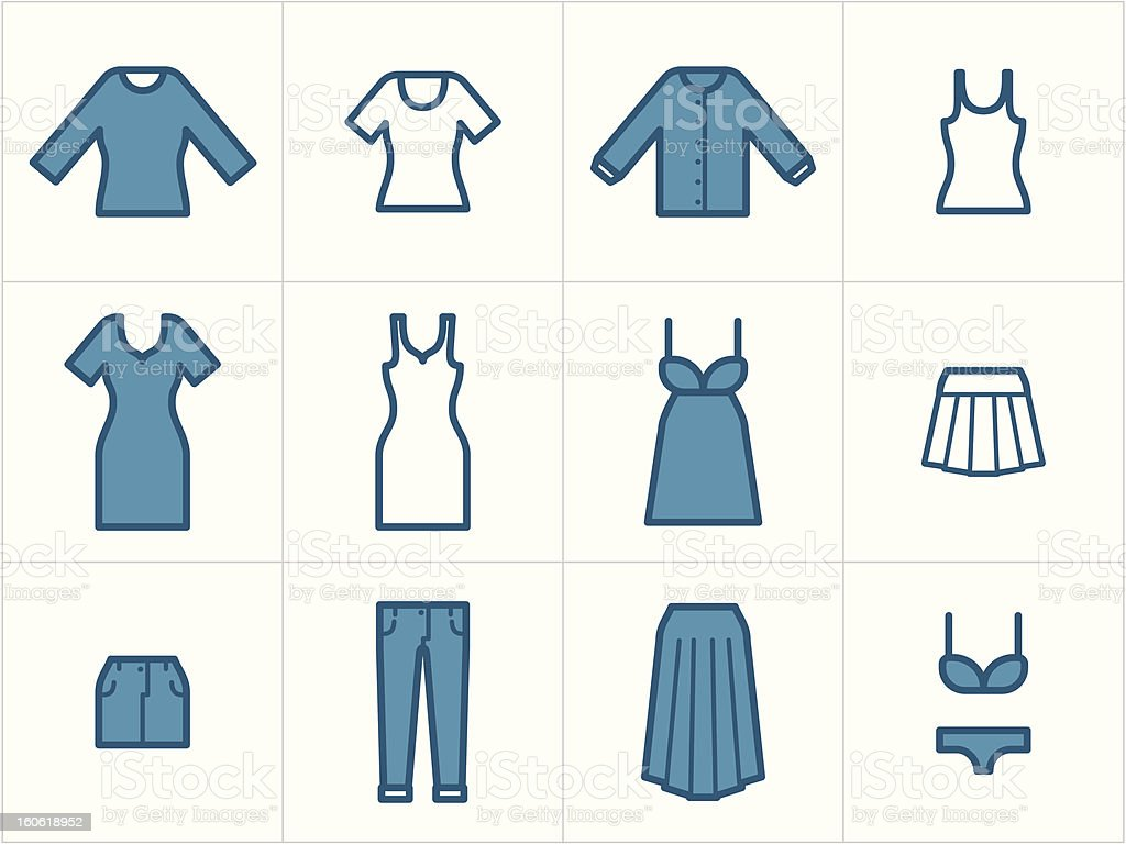 Clothing Icons Set 2 royalty-free stock vector art
