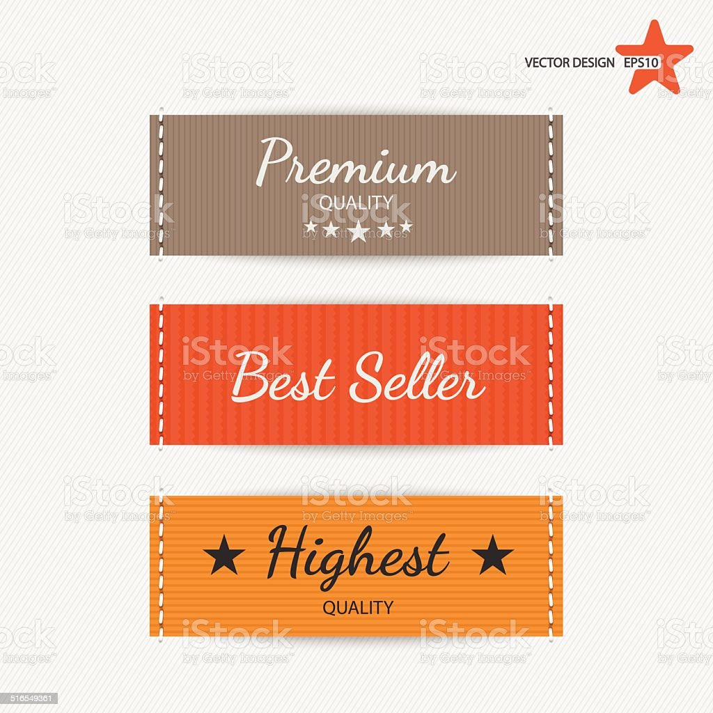Clothing labels. Vector vector art illustration