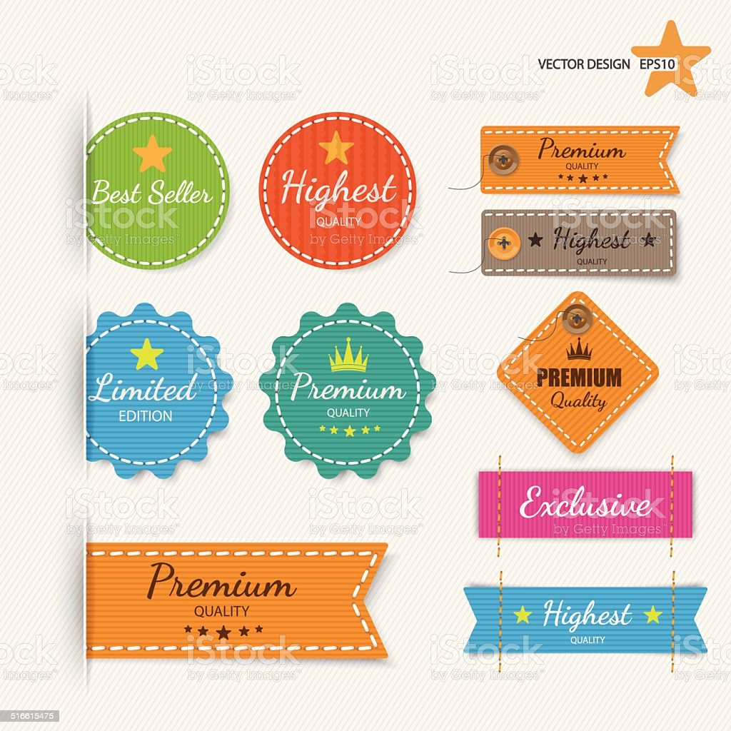 Clothing labels. Vector. vector art illustration