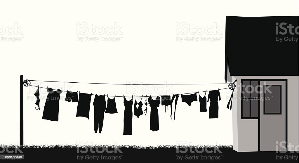 Clothing Line Vector Silhouette royalty-free stock vector art
