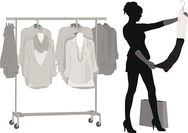 Clothes Rack Clip Art, Vector Images & Illustrations - iStock