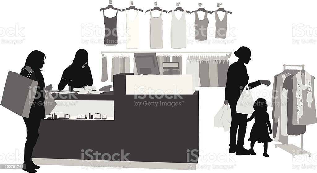Clothing Sales Vector Silhouette royalty-free stock vector art