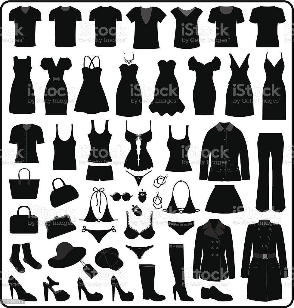 Clothing Silhouette, illustration vector art illustration